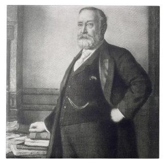 Benjamin Harrison (1833-1901), 23ro presidente de  Azulejo Cuadrado Grande