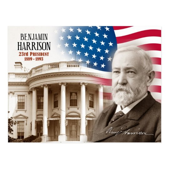 Benjamin Harrison - 23rd President of the U.S. Postcard