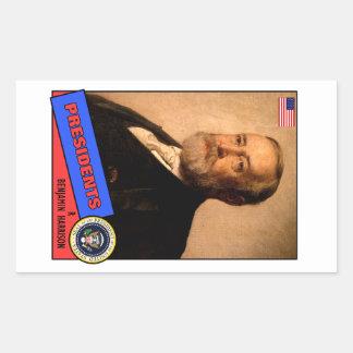 Benjamin Harrison Baseball Card Rectangular Sticker