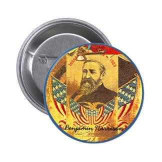 Benjamin Harrison - botón Pin Redondo De 2 Pulgadas
