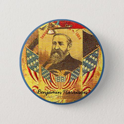 Benjamin Harrison _ Button