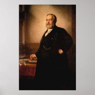 BENJAMIN HARRISON Portrait by Eastman Johnson Poster