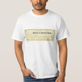Benjamin Harrison Signed Check from July 30th 1875 T-Shirt