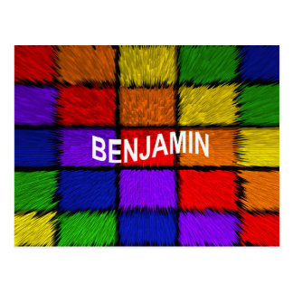 BENJAMIN ( male names ) Postcard