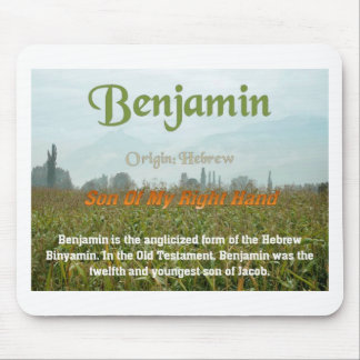 Benjamin, name meaning mouse pad