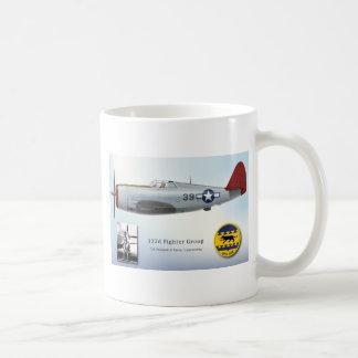 Benjamin O Davis and Red Tail P-47 Thunderbolt Classic White Coffee Mug