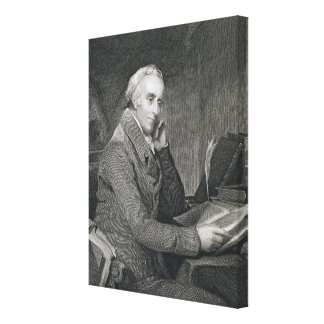 Benjamin Rush, engraved by Richard W. Dodson (1812 Canvas Print
