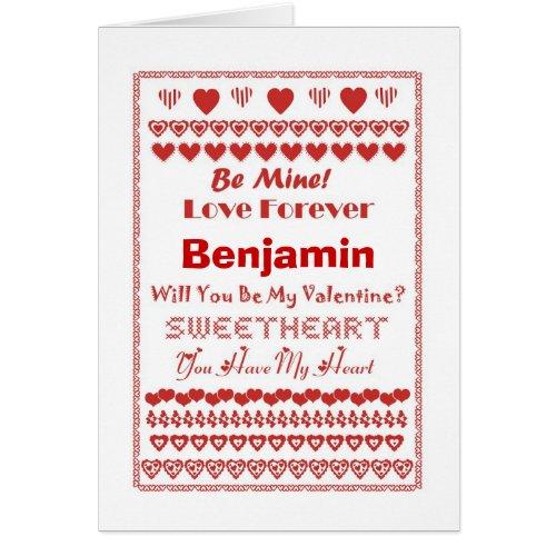Benjamin Valentine's Day Hearts Hearts Hearts