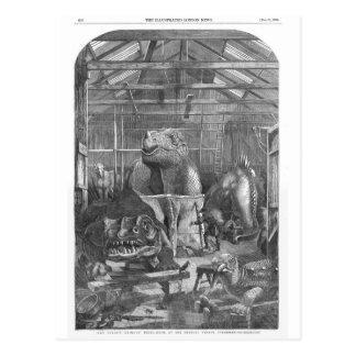 Benjamin Waterhouse Hawkins Studio Antique Print Postcard