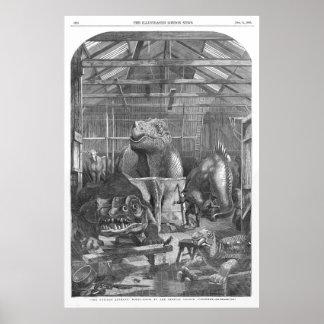 Benjamin Waterhouse Hawkins Studio Antique Print