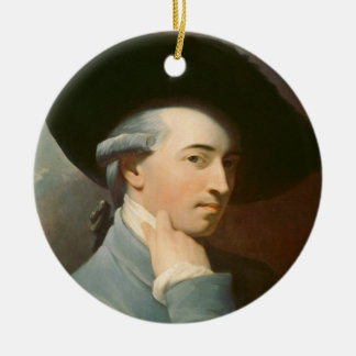 Benjamin West, c. 1776 (oil on canvas) Ceramic Ornament