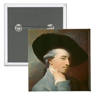 Benjamin West, c. 1776 (oil on canvas) Pinback Button