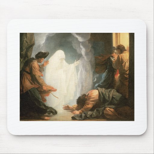 Benjamin West Saul and the witch of Endor Mouse Pad