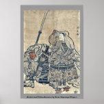Benkei y Ushiwakamaru por Torii, Kiyonaga Ukiyo-e Póster