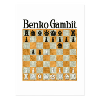 Benko Gambit Postcard
