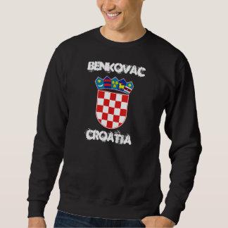 Benkovac, Croatia with coat of arms Sweatshirt