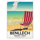 Benllech, Anglesey Wales vintage travel poster Card