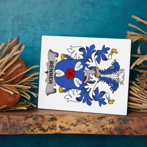 Benner Family Crest Photo Plaques