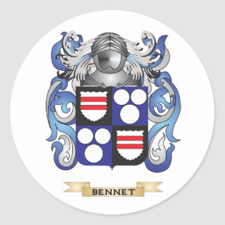 Bennet Coat of Arms Family Crest Round Sticker
