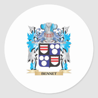 Bennet Coat of Arms Round Stickers