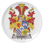 Bennet Family Crest Party Plates