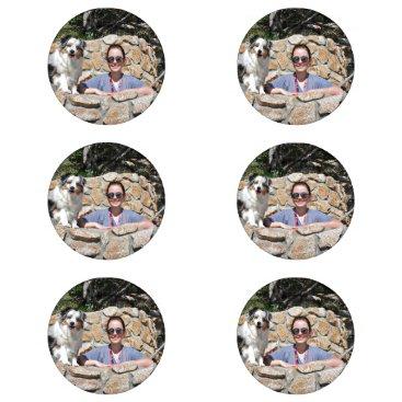 Beach Themed Bennett - Aussie Mini - Rosie - Carmel Beach Button Covers