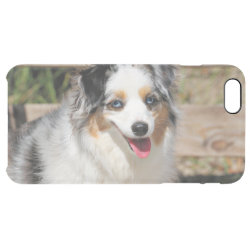 Uncommon iPhone 6 Plus Clearly™ Deflector Case with Australian Shepherd Phone Cases design