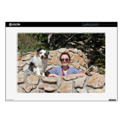 17' Laptop Skin for Mac & PC with Australian Shepherd Phone Cases design