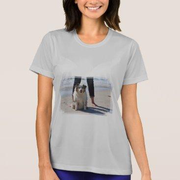 Beach Themed Bennett - Aussie Mini - Rosie - Carmel Beach T-Shirt