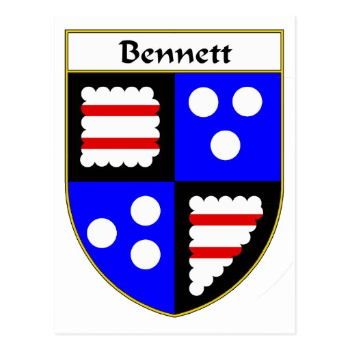 Bennett Coat of Arms/Family Crest Postcard