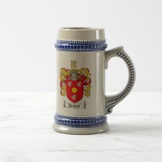 Bennett Coat of Arms Stein / Bennett Family Crest Coffee Mug