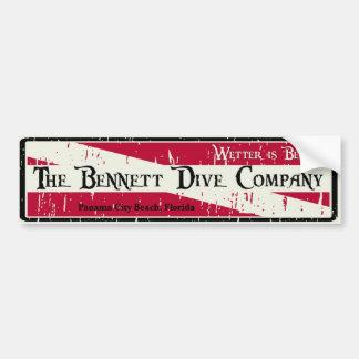 Bennett Dive Company Bumper Sticker Car Bumper Sticker