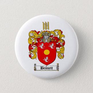 BENNETT FAMILY CREST -  BENNETT COAT OF ARMS BUTTON