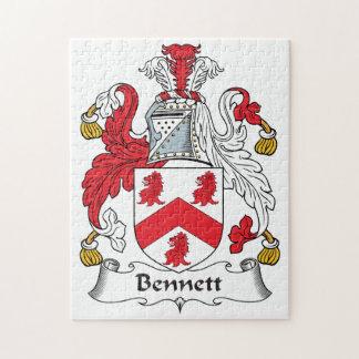Bennett Family Crest Jigsaw Puzzle