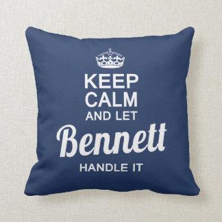Bennett handle it! throw pillow