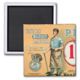 Bennett Labor Collection 2 Inch Square Magnet