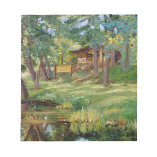 Bennett Springs Spring View Tackle Shop Painting Notepad
