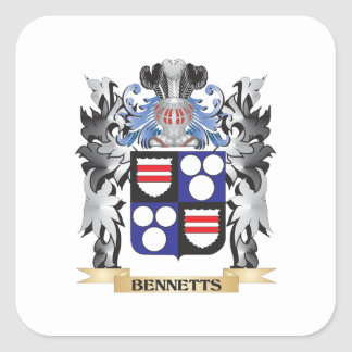 Bennetts Coat of Arms - Family Crest Square Sticker