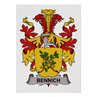 Bennich Family Crest Posters