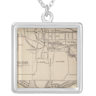 Bennington and Plan of Battleboro Silver Plated Necklace