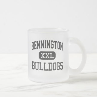 Bennington - Bulldogs - High - Bennington Kansas 10 Oz Frosted Glass Coffee Mug