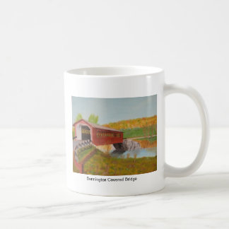 Bennington Covered Bridge Classic White Coffee Mug