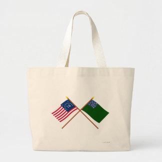 Bennington cruzado y banderas verdes de los muchac bolsa de mano