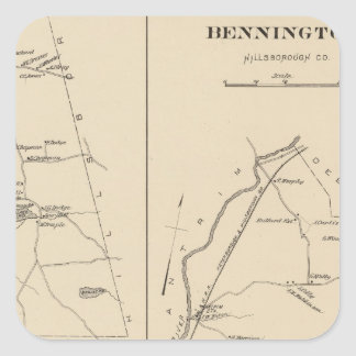 Bennington, Hillsborough Co Pegatina Cuadrada