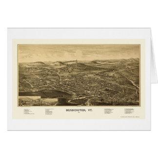 Bennington, VT Panoramic Map - 1887 Card