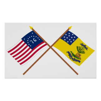 Bennington y dólares cruzados de las banderas de A Posters