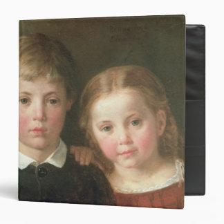"""Benno seis años y Elna, cuatro años, 1864 Carpeta 1 1/2"""""""
