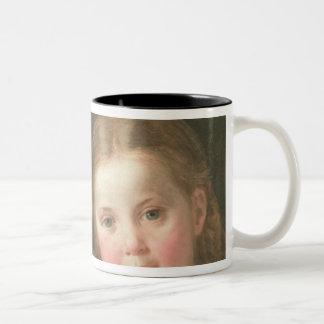 Benno seis años y Elna, cuatro años, 1864 Taza De Café De Dos Colores