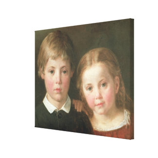 Benno six years and Elna, four years, 1864 Canvas Prints