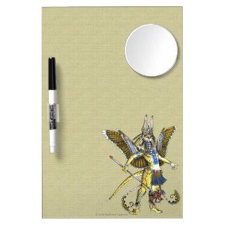 Bennu-Nahroe Dry Erase Board W/Mirror